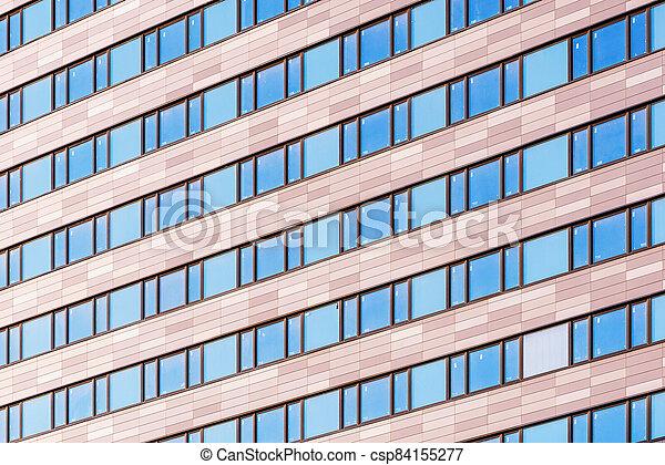 soir, nouveau, bâtiment, time., bureau, extérieur - csp84155277