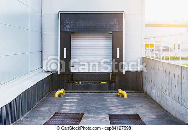 soir, porte, supermarché, time., stockage - csp84127598