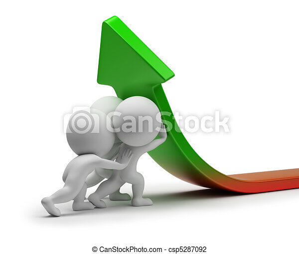 statistiques, gens, -, amélioration, petit, 3d - csp5287092