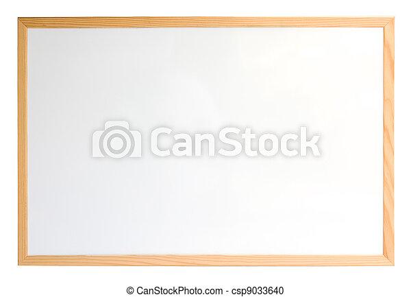sur, whiteboard, isolé, blanc - csp9033640