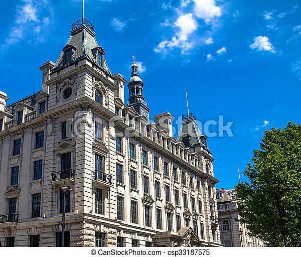 temps, jour, londres, central, vieux, extérieur, été, bâtiments, beau - csp33187575