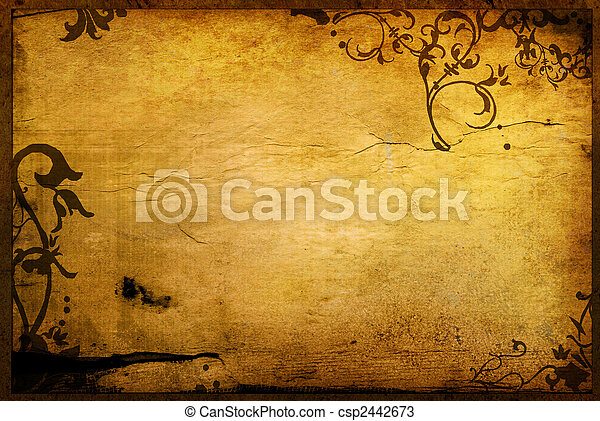 textures, floral, style, arrière-plans, cadre - csp2442673
