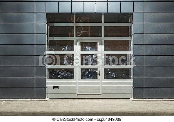 time., auto, nuit, bâtiment extérieur, service - csp84049089