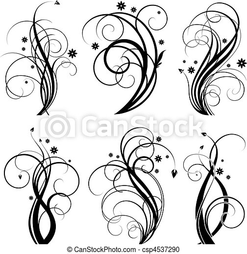 tourbillon, noir, conception - csp4537290