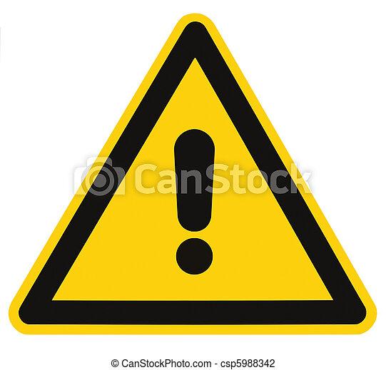 triangle, danger, macro, isolé, signe danger, avertissement, vide - csp5988342