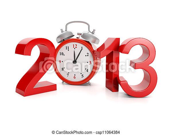 venue, fetes, illustration:, année, events., 2013, 3d - csp11064384