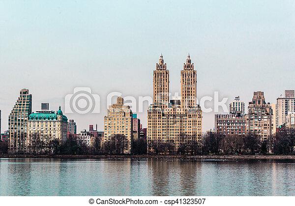 ville, bâtiments, parc central, york, nouveau, manhattan - csp41323507