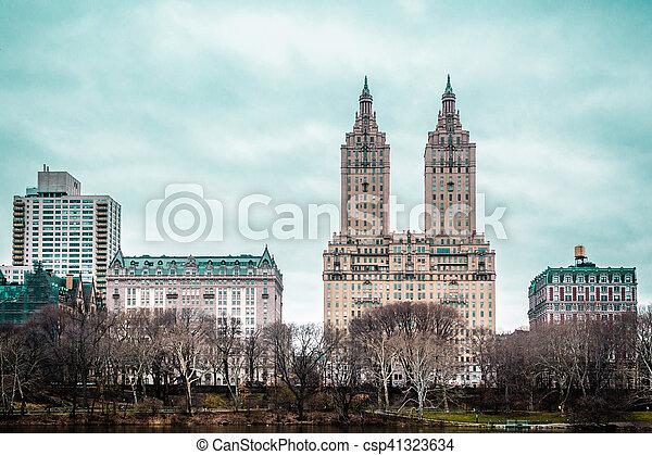 ville, bâtiments, parc central, york, nouveau, manhattan - csp41323634