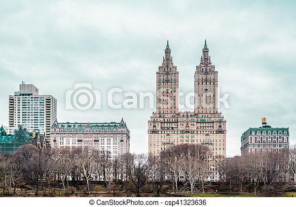 ville, bâtiments, parc central, york, nouveau, manhattan - csp41323636