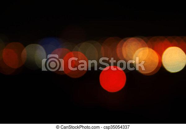 ville, nuit, lumières - csp35054337