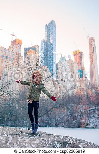 ville, parc central, york, nouveau, girl, adorable - csp62265919