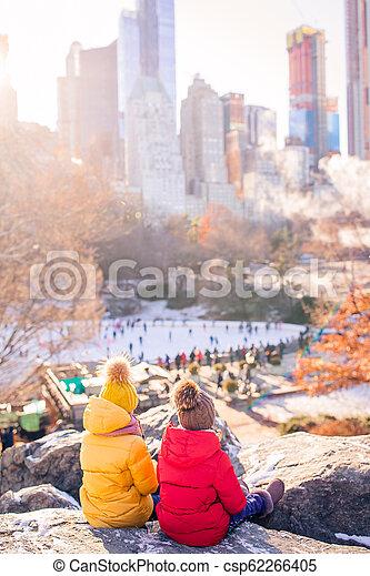 ville, peu, central, filles, parc, york, nouveau, adorable - csp62266405