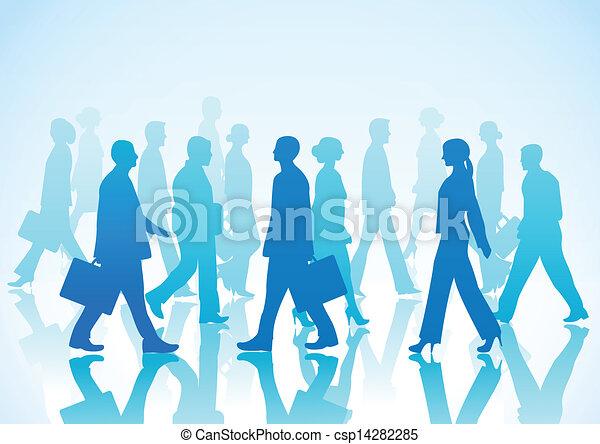 walki, gens, silhouette, business - csp14282285